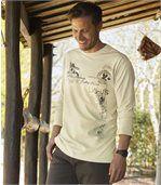 2er-Pack langärmelige T-Shirts Legend mit Aufdruck
