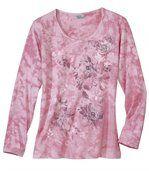 Women's Pink Tie Dye Top - Cotton preview2