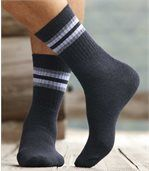 Pack of 5 Pairs of Men's Sports Socks - Beige Grey Khaki Blue Anthracite Grey preview2