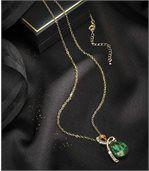 Halsketting metdruppelkristalbezet met Swarovski®-kristallen