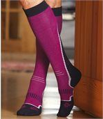 Women's Pink Ski Socks preview1