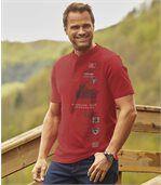 3er-Pack Henley-Shirts Road Trip
