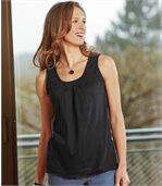 Pack of 2 Women's Vest Tops - Black Blue  preview2