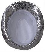chapeau trilby paillettes argentées preview2