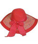 Grande capeline rouge rosé preview2