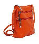 Petit sac bandoulière cuir orange preview3