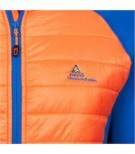 Peak Mountain - Blouson polar shell bi-matière homme CACERLA- bleu/orange preview3