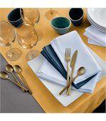 Chemin de table 45x150 cm Jacquard 100% coton CUBE jaune Curcuma preview5