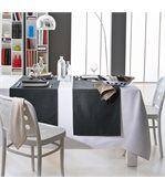 Nappe rectangle 150x200 cm Jacquard 100% coton SPIRALE blanc preview4