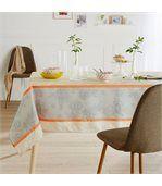 Nappe rectangle 150x300 cm imprimée 100% polyester GARRIGUE Florale ecru preview4