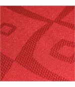 Nappe rectangle 150x350 cm Jacquard 100% polyester BRUNCH rouge preview3