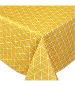 Nappe rectangle 150x250 cm imprimée 100% polyester PACO géométrique jaune Maïs preview1