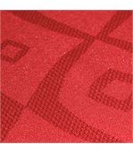 Nappe ovale 180x240 cm Jacquard 100% polyester BRUNCH rouge preview3