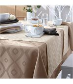 Nappe rectangle 150x300 cm Jacquard 100% polyester BRUNCH blanc preview4