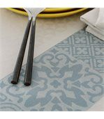 Nappe ronde 170 cm Jacquard 100% coton + enduction acrylique MOSAIC PERLE Gris preview3