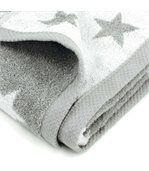 Serviette de toilette 50x100 cm 100% coton 480 g/m2 STARS Gris preview4