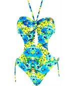 Maillot de Bain 1 Pièce Trikini  Bleu - MALAGA preview1