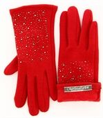 Gants femme hiver polaire rouge BASILE preview3