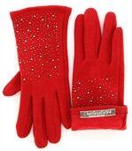 Gants femme hiver polaire rouge BASILE preview1