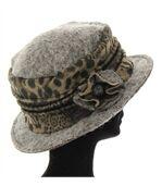 chapeau cloche laine bouillie BASTIEN gris preview3