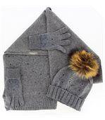 pack écharpe bonnet gants laine DONALD gris preview2