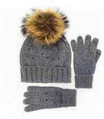 pack écharpe bonnet gants laine DONALD gris preview4