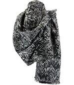 écharpe étole XXL  noir gris THOMAS preview1