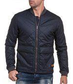 Blouson homme zipé bleu navy avec poches preview1