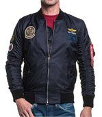 Bomber homme navy écusson preview1