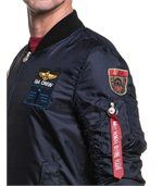 Bomber homme navy écusson preview2