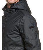 Blouson homme zippé noir capuche fourrure preview2