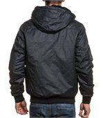 Blouson homme zippé noir capuche fourrure preview3