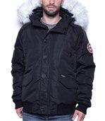 Blouson homme hiver noir col fourrure preview1