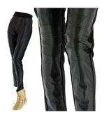Pantalon slim cuir grande taille CHRISTINE noir preview2