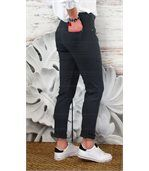 Jean femme taille haute lycra CANDY gris preview3