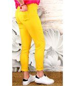 Jean femme taille haute lycra CANDY jaune preview3