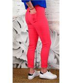 Jean femme taille haute lycra CANDY corail preview3