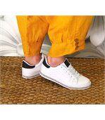Pantalon lin grande taille FEMINA jaune preview3