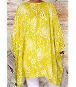 Tunique longue grande taille bohème PAPYRUS jaune preview4
