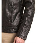 Blouson zippé homme noir simili cuir preview3