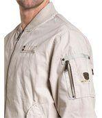Blouson homme beige clair zippé effet bomber preview2