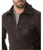 Blouson homme cuir bombay new brown preview2