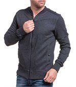 Gilet sport fashion gris avec zip preview1