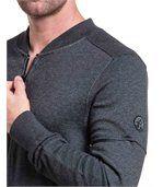 Gilet sport fashion gris avec zip preview2