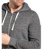 Gilet sweat zippé homme gris foncé capuche preview2