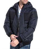Blouson homme navy zippé à capuche preview3