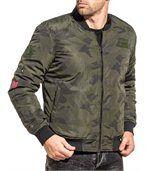 Blouson bomber homme kaki camouflage preview1