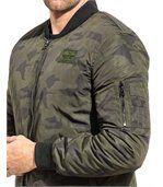 Blouson bomber homme kaki camouflage preview2