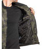 Blouson bomber homme kaki camouflage preview3