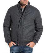 Blouson zippé homme gris laine preview1